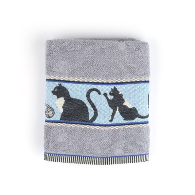 Handdoek Cats Grey