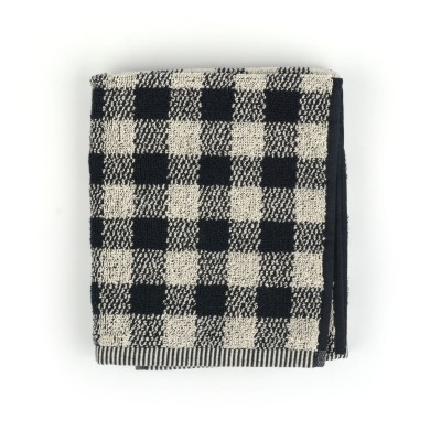 Handdoek Check Black