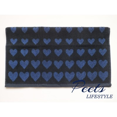 Handdoek Hearts Dark Blue