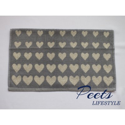 Handdoek Hearts Grey