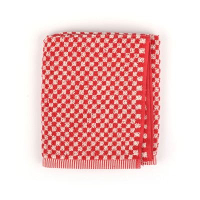 Handdoek Small Check Red
