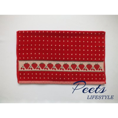 Handdoek strawberry red