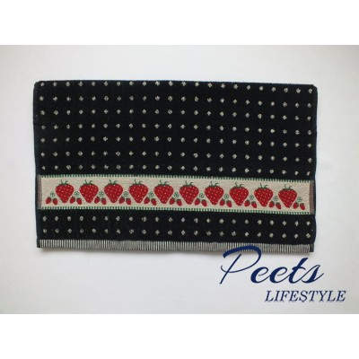 Handdoek Strawberry Dark Blue