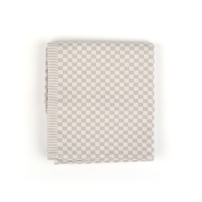 Theedoek Small check Grey