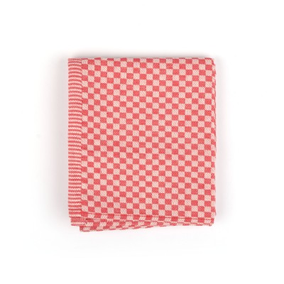 Theedoek Small Check Red