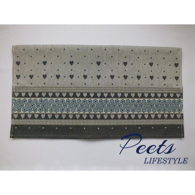 Theedoek Valentine Dark Blue
