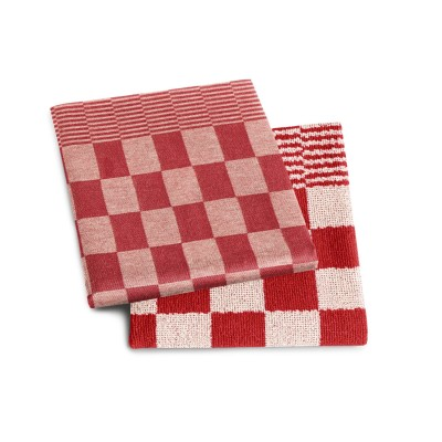 Set Handdoek + Theedoek Barbeque Red