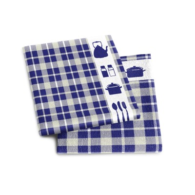 Set Handdoek + Theedoek Kitchen Blue